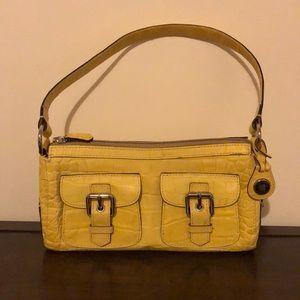 Dooney & Bourke crocodile yellow shoulder bag